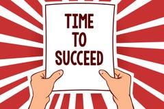 Χρόνος γραψίματος κειμένων γραφής να πετύχει Η έννοια που σημαίνει το επίτευγμα επιτυχίας ευκαιρίας Thriumph επιτυγχάνει την εκμε διανυσματική απεικόνιση