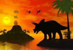 χρόνος δεινοσαύρων Στοκ Φωτογραφίες
