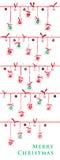 χρόνος εικονιδίων στοιχείων Χριστουγέννων ημερολογιακών κινούμενων σχεδίων εμφάνισης διάφορος Στοκ Φωτογραφίες