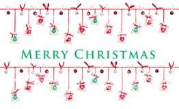 χρόνος εικονιδίων στοιχείων Χριστουγέννων ημερολογιακών κινούμενων σχεδίων εμφάνισης διάφορος Στοκ Εικόνα