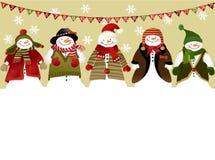 χρόνος εικονιδίων στοιχείων Χριστουγέννων ημερολογιακών κινούμενων σχεδίων εμφάνισης διάφορος Στοκ εικόνα με δικαίωμα ελεύθερης χρήσης