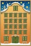 χρόνος εικονιδίων στοιχείων Χριστουγέννων ημερολογιακών κινούμενων σχεδίων εμφάνισης διάφορος ελεύθερη απεικόνιση δικαιώματος
