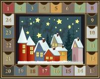 χρόνος εικονιδίων στοιχείων Χριστουγέννων ημερολογιακών κινούμενων σχεδίων εμφάνισης διάφορος Στοκ Εικόνες