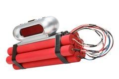 χρόνος εκπυρσοκροτήρων ρολογιών βομβών συναγερμών tnt Στοκ εικόνα με δικαίωμα ελεύθερης χρήσης