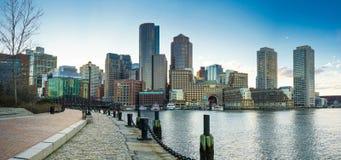 Χρόνος ημέρας οριζόντων της Βοστώνης Στοκ φωτογραφία με δικαίωμα ελεύθερης χρήσης