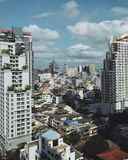 Χρόνος ημέρας πόλεων της Μπανγκόκ Στοκ Εικόνες