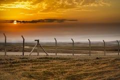 Χρόνος ηλιοβασιλέματος στην ιρακινή έρημο Στοκ Εικόνα