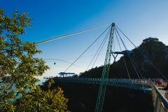 Χρόνος ηλιοβασιλέματος στο νησί Langkawi συμβόλων γεφυρών ουρανού Διακοπές περιπέτειας κατασκευή σύγχρονη Τουριστικό αξιοθέατο μι Στοκ φωτογραφία με δικαίωμα ελεύθερης χρήσης