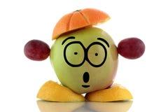 Χρόνος διατροφής. Αστείος χαρακτήρας φρούτων. Στοκ εικόνες με δικαίωμα ελεύθερης χρήσης