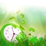 Χρόνος και έννοια χαρτοπαικτικών λεσχών Ο χρόνος είναι χρήματα διανυσματική απεικόνιση