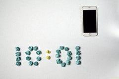 Χρόνος και τηλέφωνο Στοκ εικόνες με δικαίωμα ελεύθερης χρήσης