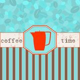 χρόνος καταλόγων επιλογής καφέ διανυσματική απεικόνιση