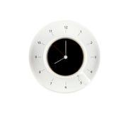 χρόνος καφέ, ρολόι με το φλυτζάνι καφέ Στοκ φωτογραφία με δικαίωμα ελεύθερης χρήσης