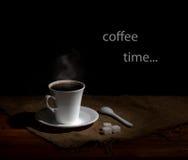 Χρόνος καφέ στο αναδρομικό ύφος Στοκ φωτογραφίες με δικαίωμα ελεύθερης χρήσης