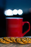 Χρόνος καφέ στο λυκόφως Στοκ εικόνες με δικαίωμα ελεύθερης χρήσης