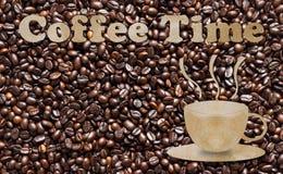Χρόνος καφέ, χρονική έννοια σπασιμάτων Στοκ Εικόνες