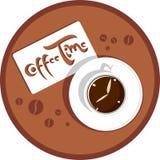 χρόνος καφέ Στοκ Εικόνα
