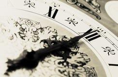 χρόνος μεσάνυχτων ρολογιών Στοκ Εικόνα