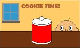 Χρόνος μπισκότων για το μωρό σας διανυσματική απεικόνιση