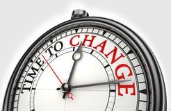 Χρόνος να αλλαχτεί το ρολόι έννοιας Στοκ εικόνες με δικαίωμα ελεύθερης χρήσης