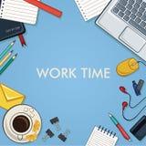 χρόνος να εργαστεί Στοκ Εικόνες