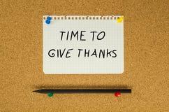 Χρόνος να δοθούν οι ευχαριστίες στοκ εικόνες με δικαίωμα ελεύθερης χρήσης