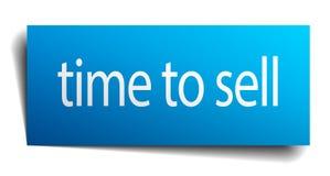 χρόνος να πωληθεί το σημάδι διανυσματική απεικόνιση