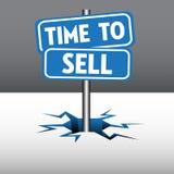 Χρόνος να πωληθούν τα πιάτα διανυσματική απεικόνιση