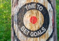 χρόνος να τεθούν οι στόχοι Στοκ φωτογραφίες με δικαίωμα ελεύθερης χρήσης