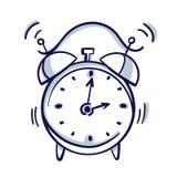 Χρόνος ξυπνητηριών ξυπνήστε που απομονώνεται στο υπόβαθρο στο επίπεδο ύφος διανυσματική απεικόνιση