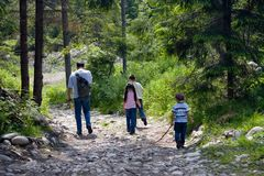 χρόνος πεζοπορίας μπαμπάδων Στοκ Εικόνες