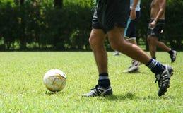 χρόνος ποδοσφαίρου Στοκ Φωτογραφίες