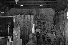 Χρόνος που συλλαμβάνεται σε μια παλαιά σιταποθήκη Στοκ εικόνα με δικαίωμα ελεύθερης χρήσης