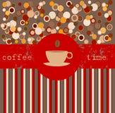 χρόνος προτύπων σχεδίου καφέ διανυσματική απεικόνιση