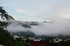 Χρόνος πρωινού στο phang-Nga Ταϊλάνδη Στοκ φωτογραφία με δικαίωμα ελεύθερης χρήσης