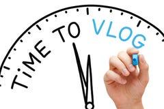 Χρόνος στην έννοια Vlog Στοκ φωτογραφία με δικαίωμα ελεύθερης χρήσης