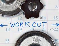 χρόνος στο workout Στοκ εικόνα με δικαίωμα ελεύθερης χρήσης