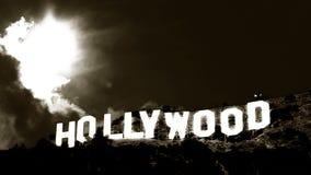 Χρόνος-σφάλμα 2 σημαδιών Hollywood κλασικός απόθεμα βίντεο