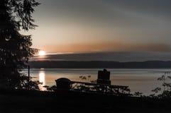 Χρόνος λυκόφατος στον ποταμό Palouse, Στοκ φωτογραφία με δικαίωμα ελεύθερης χρήσης