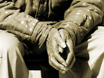 χρόνος χεριών Στοκ Εικόνες