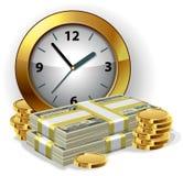 χρόνος χρημάτων έννοιας απεικόνιση αποθεμάτων