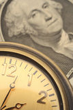 χρόνος χρημάτων χρηματοδότη&s Στοκ Φωτογραφία
