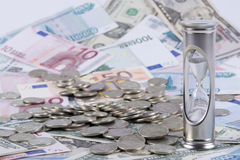χρόνος χρημάτων Στοκ Φωτογραφίες