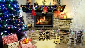 Χρόνος Χριστουγέννων και Χριστούγεννα διακοσμήσεων απόθεμα βίντεο