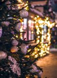 Χρόνος Χριστουγέννων στη Μόσχα Στοκ φωτογραφία με δικαίωμα ελεύθερης χρήσης