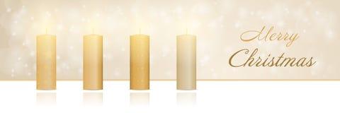 Χρόνος Χριστουγέννων - χρυσός κεριών εμφάνισης διανυσματική απεικόνιση