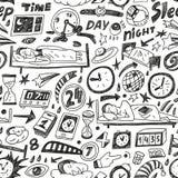 Χρόνος ύπνου - άνευ ραφής backgound Στοκ φωτογραφίες με δικαίωμα ελεύθερης χρήσης