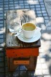 Χρόνος Coffe στην οδό Στοκ Φωτογραφία