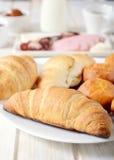 Χρόνος Croissants στοκ εικόνες