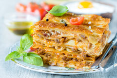 Χρόνος Lasagna στοκ εικόνες